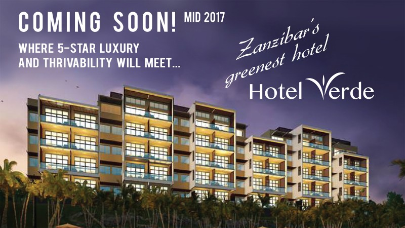 Hotel Verde: Zanzibar's Greenest Hotel to open in mid 2017