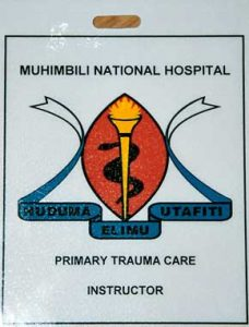 Identification Badge of Muhimbili National Hospital in Dar es Salaam, Tanzania