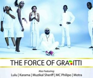 Gravitti Band comprises Jacob Okello, Tindi, Ms Okinda, Jah Lyric, Big Charlie and Mathewmatix Rabala.