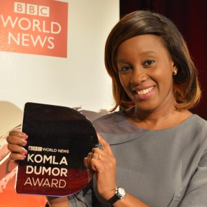 Didi Akinyelure, the Nigerian television business reporter and presenter who on July 25, 2016 won the second annual BBC World News Komla Dumor Award, has joined the BBC News team on a three-month placement.