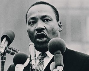 The Rev Dr Martin Luther King Jr, Civil Rights Leader, USA.