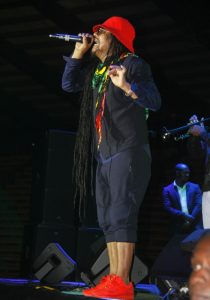 British reggae superstar Maxi Priest performing in Kampala on October 8, 2016. Photo by Abubaker Lubowa.