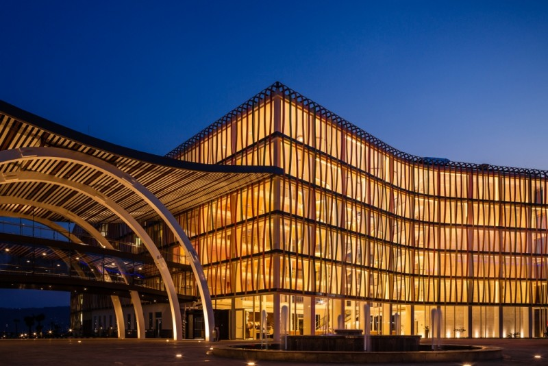 Radisson Blu Hotel and Convention Centre in Kigali, Rwanda, is East Africa's largest conference centre.