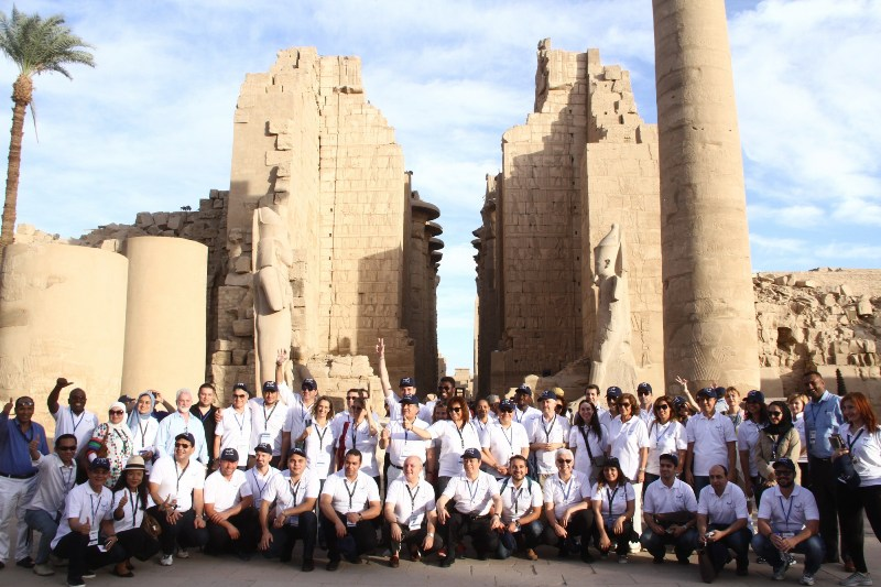 Delegates of the 5th-UNWTO City Tourism Summit in Luxor, Egypt.