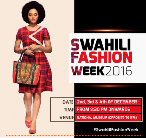 Fashion and accessory designers from Swahili speaking countries and beyond showcase their talent, market their creativity and network with their clientele at the National Museum in Dar December 2-4, 2016.