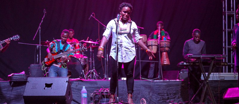 Jag Namataka Deweyi, who describes her music as African contemporary music that blends traditional music with an urban touch, gave the audience a taste of her songs.
