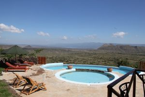 Take a holiday at Lake Elementeita on the floor of Kenya's Great Rift Valley.
