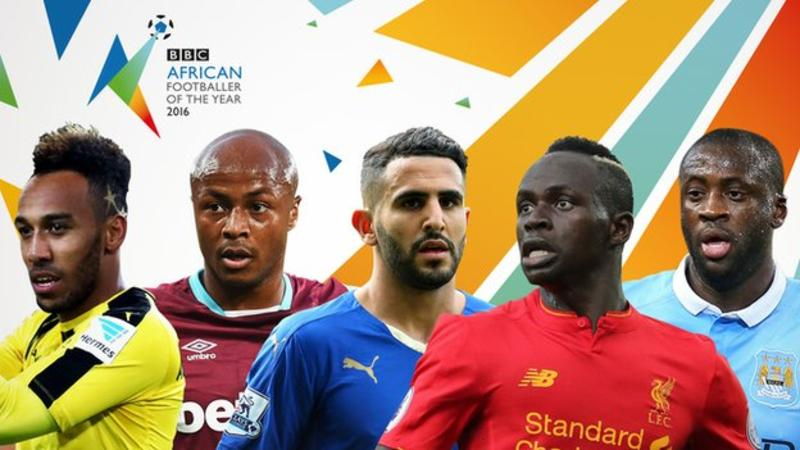 Nominees for the BBC African Footballer of the Year 2016.