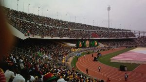 A 40000-seat stadium full to capacity during AWCON 2016