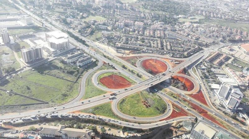 Nairobi's Southern Bypass road runs from Mombasa Road through Lang'ata, Ngong Road to Kikuyu.