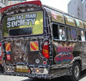 Nairobi's definitive mode of transport, the matatu.