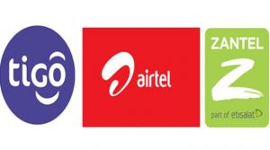 Tigo, Airtel & Zantel offer mobile money transfer service.
