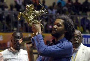 Senegal's Alain Gomis won the Golden Stallion award at FESPACO 2017. AFP picture.