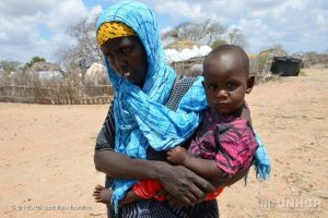 Hunger caused by Kenya drought hits children's education and health. UNHCR pic.