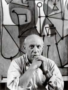 Pablo Picasso, a world-famous left-handed painter.