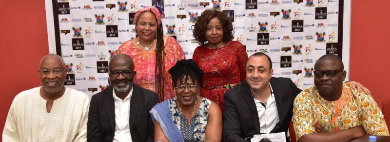 AMAA Jury with Founder Peace Anyiam-Osigwe in Rwanda.