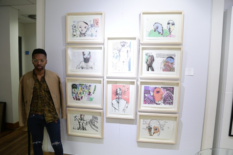 Banele Khoza of South Africa took the Gerard Sekoto Award that is given to a South African artist who has demonstrated continual improvement in the quality of their entry year-on-year in the L'Atelier