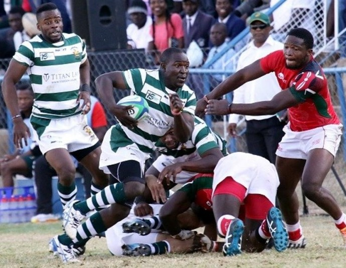Zimbabwe plays Kenya in the Rugby Africa Gold Cup 2017. Kenya won 41-22.