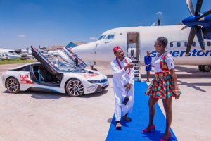 In Akothee's Oyoyo music video is a private jet, luxury car waiting to pick her once she walks down the blue carpet, a presidential suite to chill in at top hotel and fine dining space.