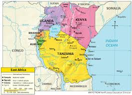 east africa community map
