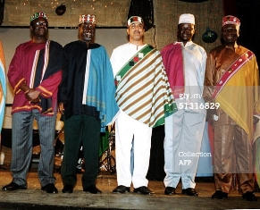 kenyan ministers in national dress