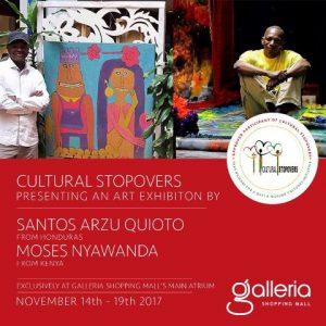 A Kenya-Honduras art exhibition by Moses Nyawanda and Santos Arzu Quioto from Honduras at Galleria Shopping Mall in Nairobi