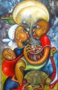 Artist John Silver exhibits his most recent art work at Nairobi National Museum