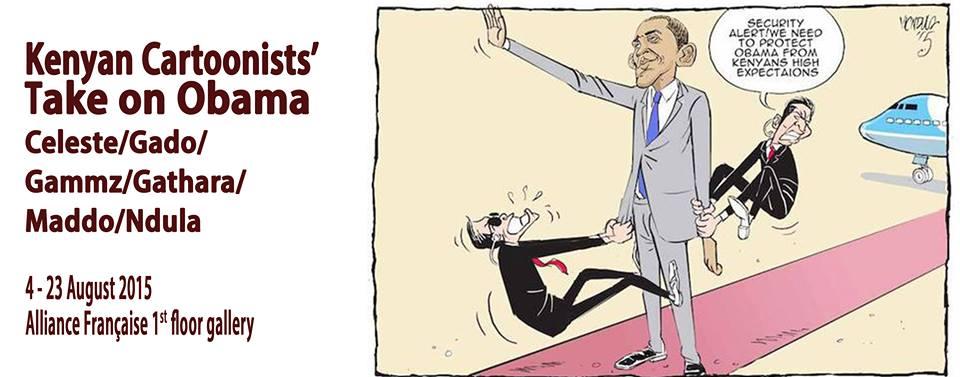 Cartoonists' Take on US President Barack Obama's Visit to Kenya, 24-26 July 2015