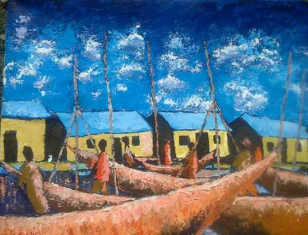 Lake Victorian Basin Artists from Kisumu exhibit at Nairobi National Museum