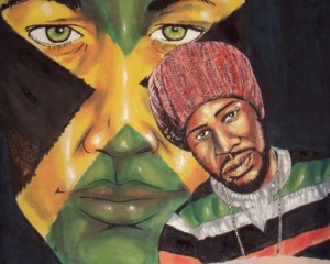 exhibition of paintings on reggae music by oliver okoth at nairobi national museum