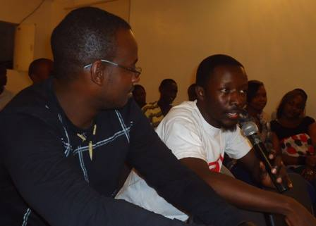 ian kithinji and alexander ikawah have the mic at lola kenya screen film forum