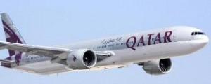 Qatar Airways passenger jet in flight