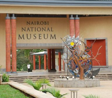 Overall Winner of Kenya National Heritage Art competition Leaves for London