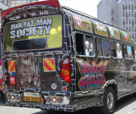 The Sub-Culture of Nairobi's Matatu Public Transport Crew Explained