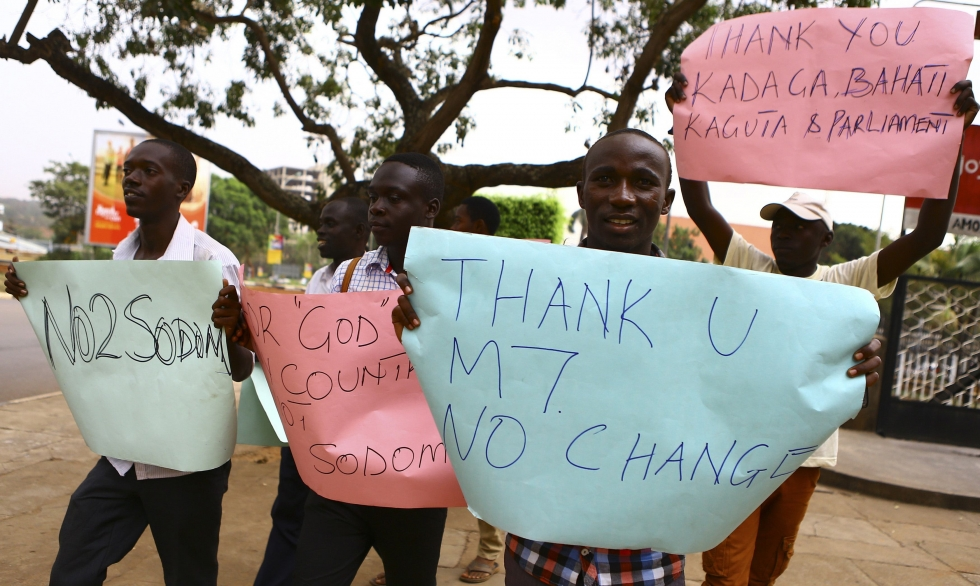 museveni's anti-gay supporters