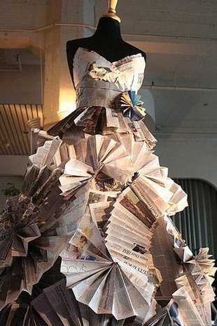 waste paper dress by blessed nkosi