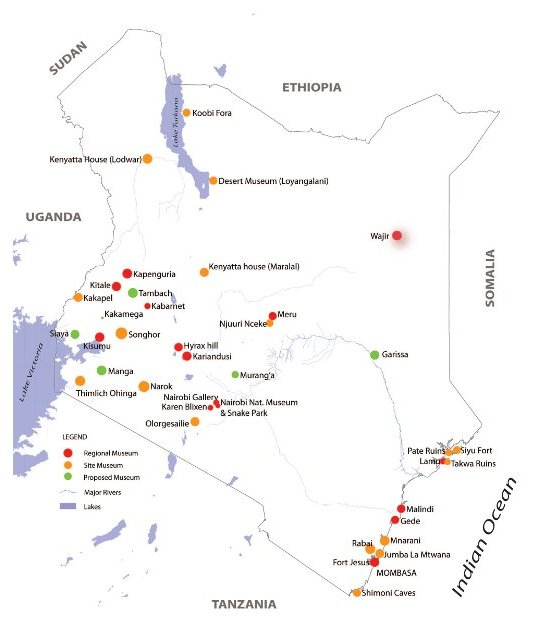 national museums of kenya's sites museums map