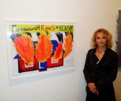 Mobile art school kenya, MASK, Director Alla Tkachuk at Saatchi Gallery, london