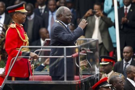 President Mwai Kibaki's open ceremonial Land Rover