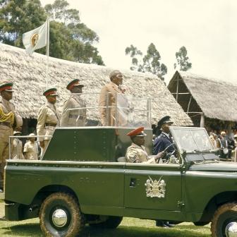 kenya's founding president jomo kenyatta's ceremonial land rover