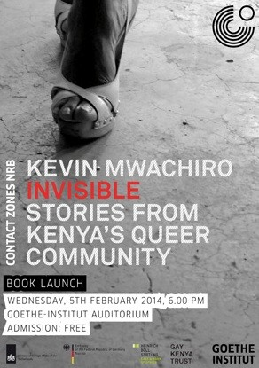 kenyan gay activist kevin mwachiro's invisible book launch poster
