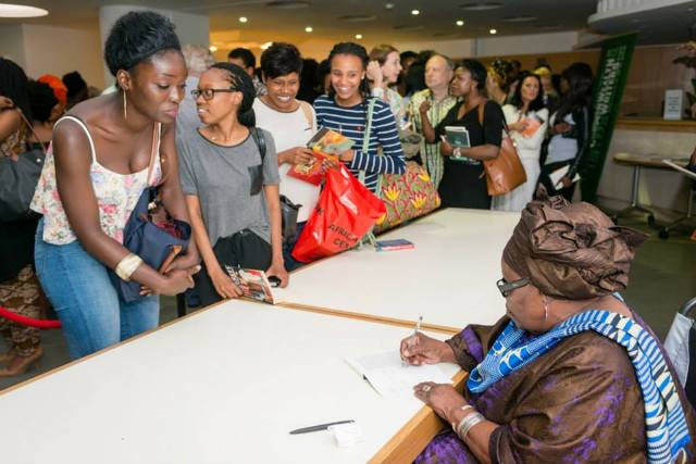 ama ata aidoo signs books at africa writes 2014