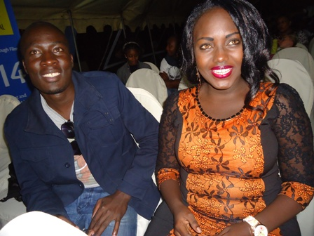 kenyan actors kevin ogolla and queeny mwangi at 3rd arusha frican film festival