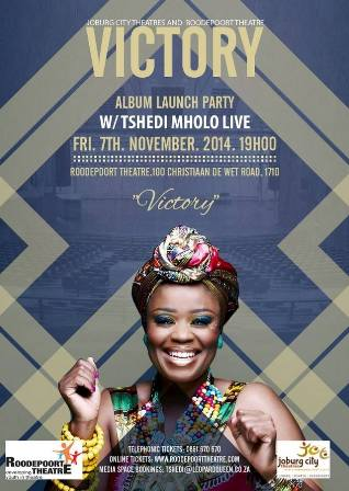 tshedi mholo's victory launch promo poster