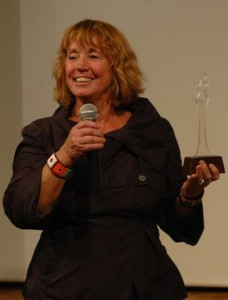 Anette Tony-Hansen of Denmark was a mentor at our festival in 2009; she presents an award