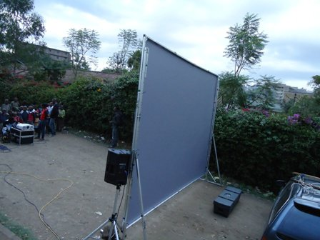 non-conventional film screening space