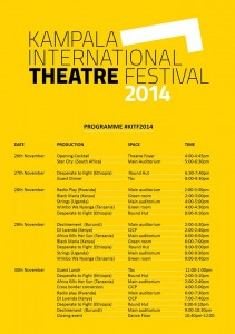 kampala international theatre festival program
