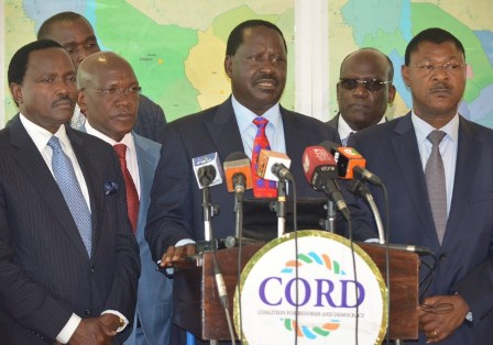 kenya's political opposition, cord, opposes proposed security law amendments