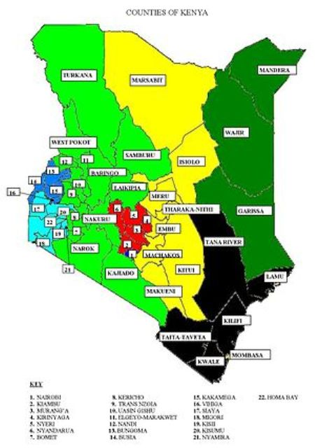 47 administrative counties of kenya