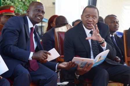 kenya's president uhuru kenyatta and deputy president william ruto urging parliament to pass the security law amendmenrs